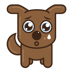 No Search Results Sad Dog