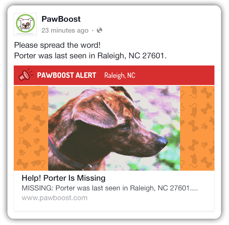 Pawboost Mobile Facebook Ad